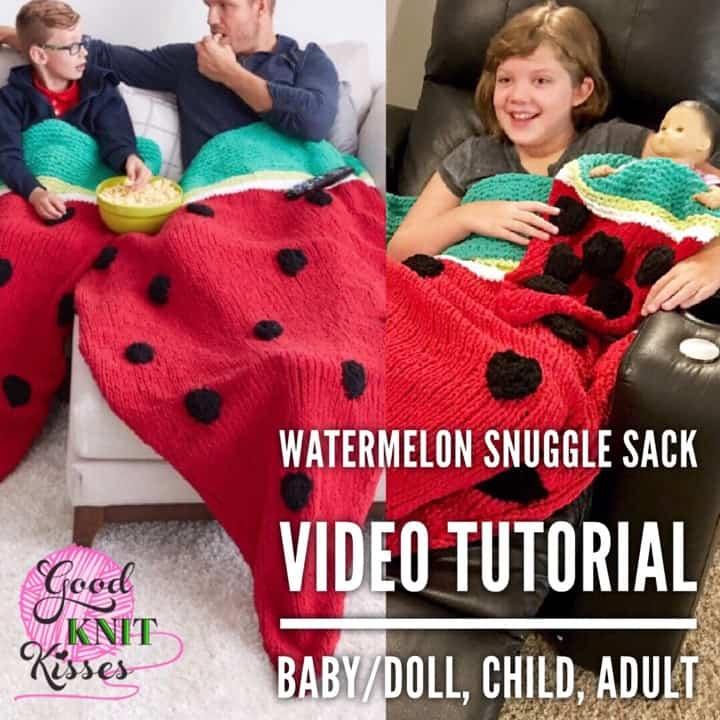 Watermelon Snuggle Sack   Yarnspirations