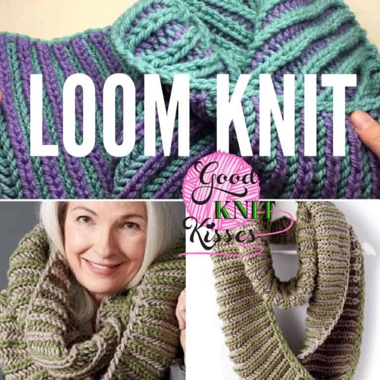 Loom Knit Brioche Accent Cowl