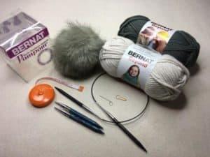 Box Stitch Knit Hat
