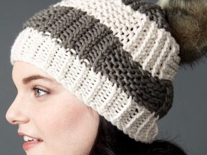 Box Stitch Knit Hat | Yarnspirations
