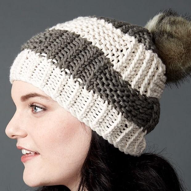 Box Stitch Knit Hat | Yarnspirations