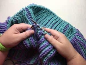 Brioche Accent Knit Cowl