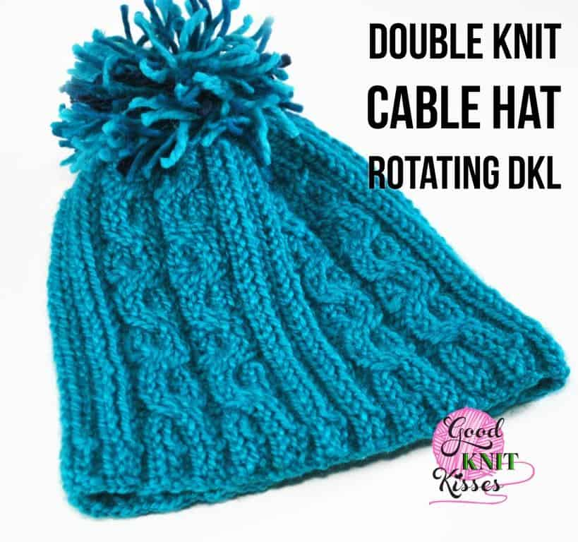 Double Knit Cable Hat | Rotating DKL