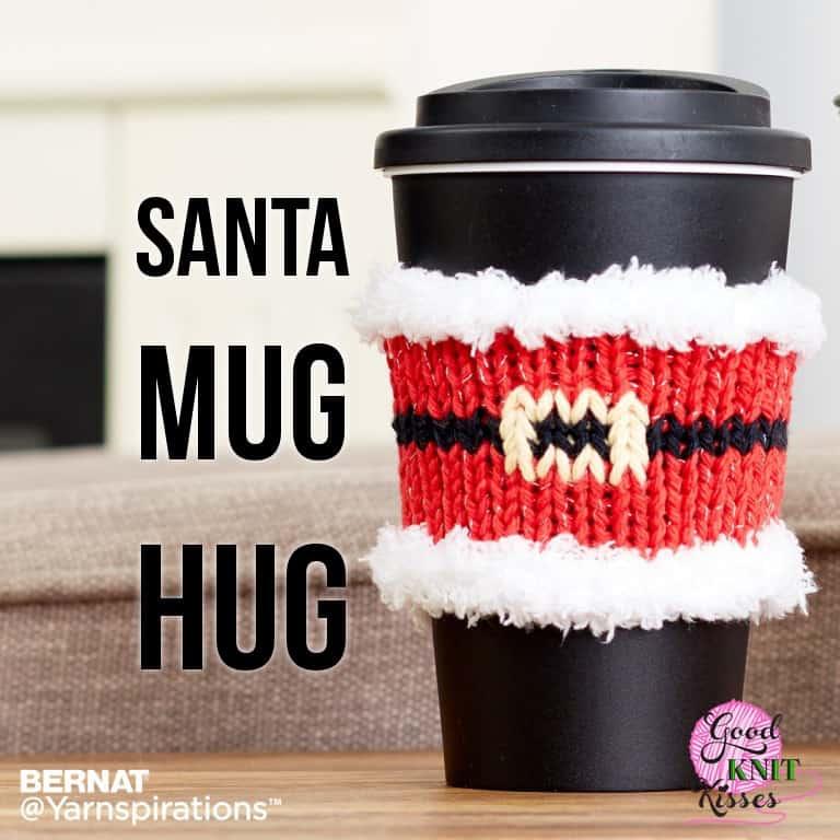 Santa Mug Hug   Yarnspirations
