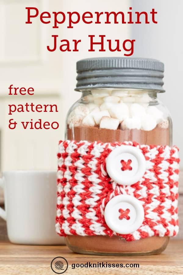 Peppermint Jar Hug Pin image