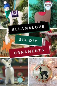 Llama wish you a Merry Christmas with this fun Santa Sombrero Llama ornament. https://www.goodknitkisses.com/santa-sombrero-llama-ornament/ #goodknitkisses #llamalove