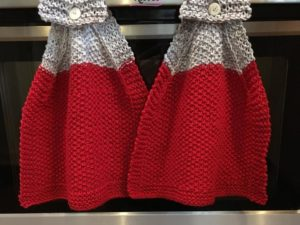 Loom Knit Hanging Kitchen Towel