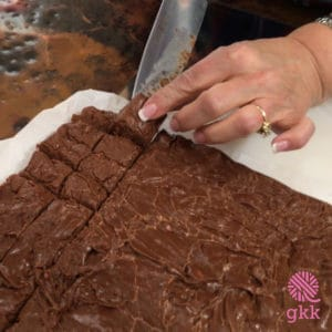 Come on over to the ranch and join Mom as she shows us how to make her classic Million Dollar Fudge https://www.goodknitkisses.com/million-dollar-fudge/ #goodknitkisses #chocolatefudge #milliondollarfudge #recipe #classicfudge