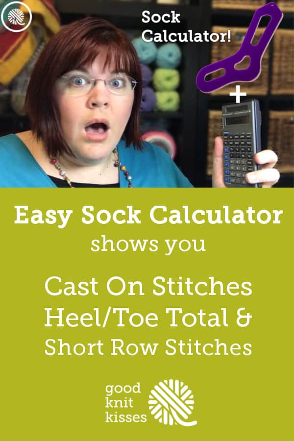Interactive FREE Sock Calculator https://www.goodknitkisses.com/sock-calculator/ #goodknitkisses #knitsocks #knitting #loomknitting #knit