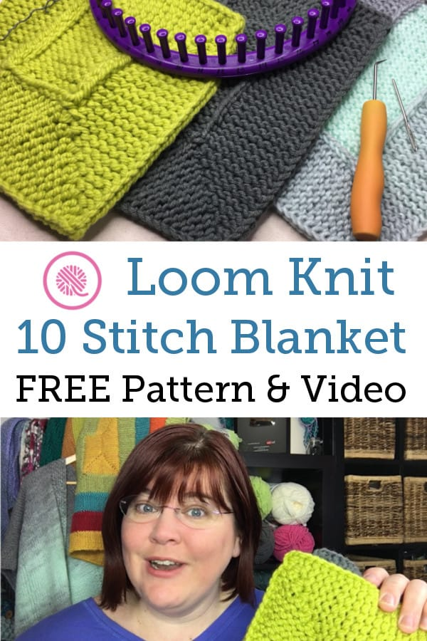 Ten Stitch Blanket Pattern Pinterest Pin Loom with samples