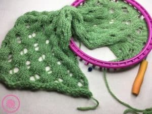 Loom Knit Rolling Waves Cowl