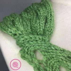 Loom Knit Rolling Waves Cowl join