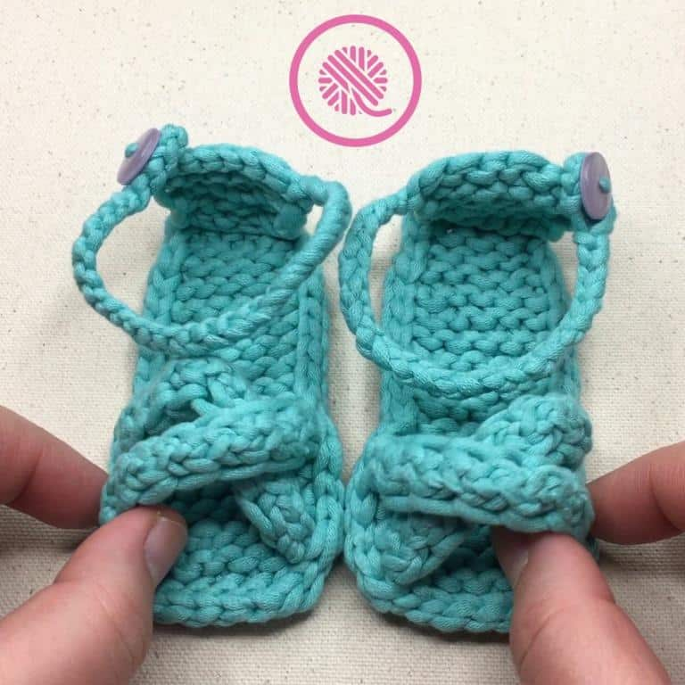 Loom Knit Baby Sandals VIDEO!!