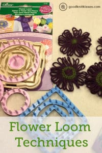 Flower Loom Techniques: Clover Hana Ami Flower Loom with loom knit flowers