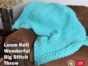 Loom Knit Big Stitch Throw | Red Heart