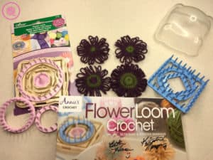 Flower Loom Techniques: Flower loom with flowers