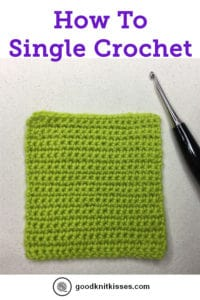 How to Crochet Single Crochet PIN Image