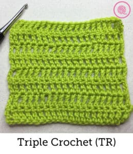 How to Crochet the Triple/Treble Crochet Stitch