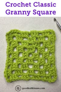 How to Crochet Granny Squares Classic Granny Pin Image