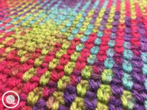 Easy Planned Pooling stitch closeup