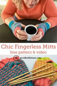 Chic Sheep Fingerless Mitts Pin Image