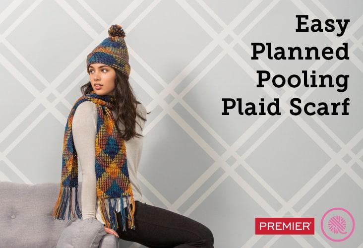 Easy Planned Pooling | Plaid Fringe Scarf