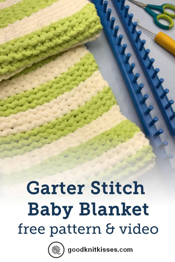 Garter Stitch baby Blanket PIN