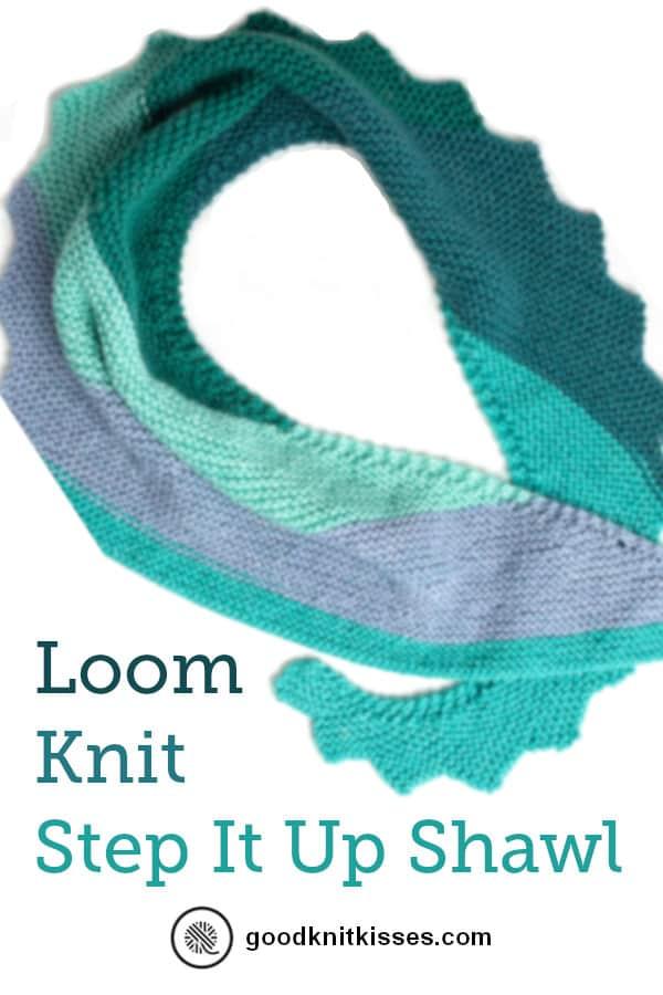 Loom Knit Shawl pin image