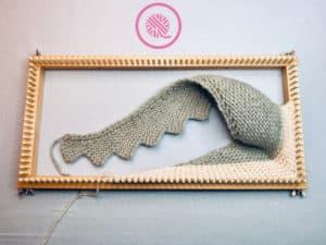 Loom Knit Shawl on Loom