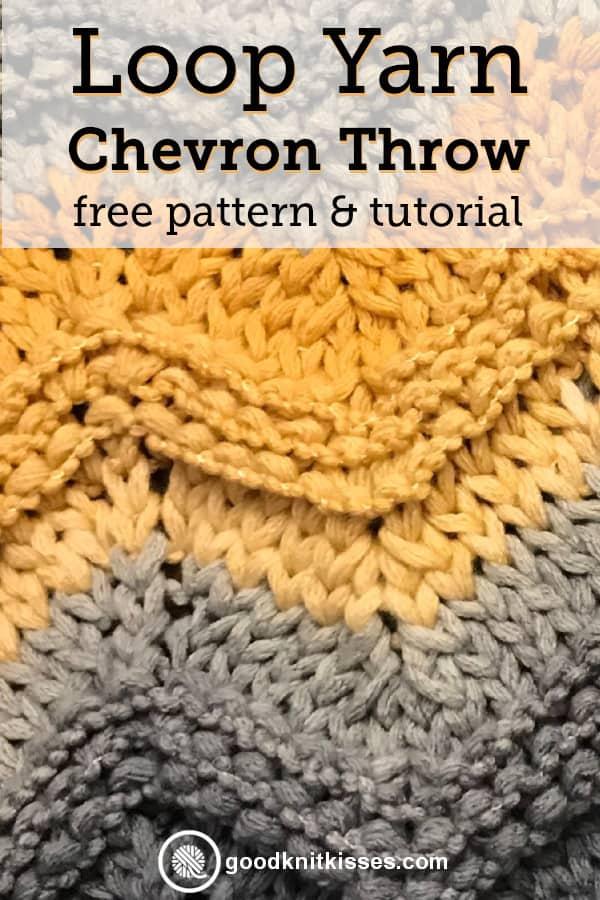 Finger Knit Chevron Blanket pin