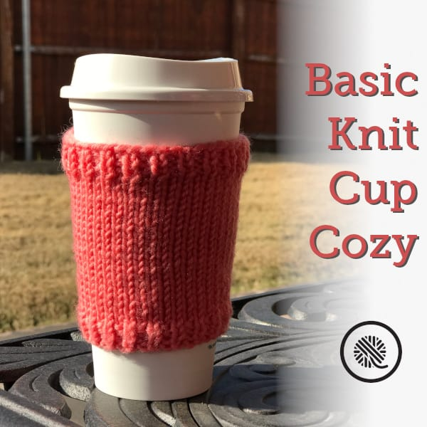 Basic Knit Cup Cozy | Needle