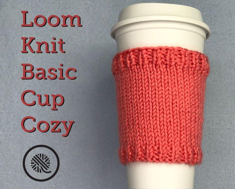 Basic Loom Knit Cup Cozy