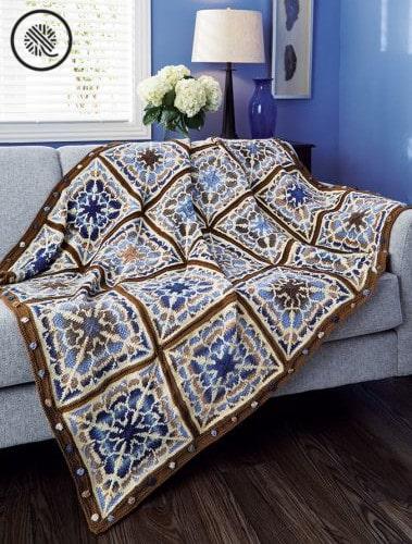 Knit Flowering Mandala Afghan Craft Kit Unboxing