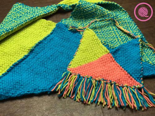Woven Boho Bag shown in 2 sizes