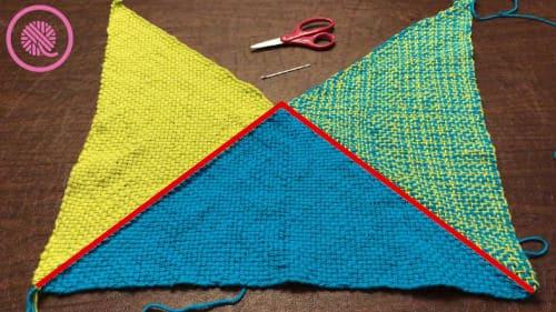 Woven Boho Bag Inner Seaming Triangles