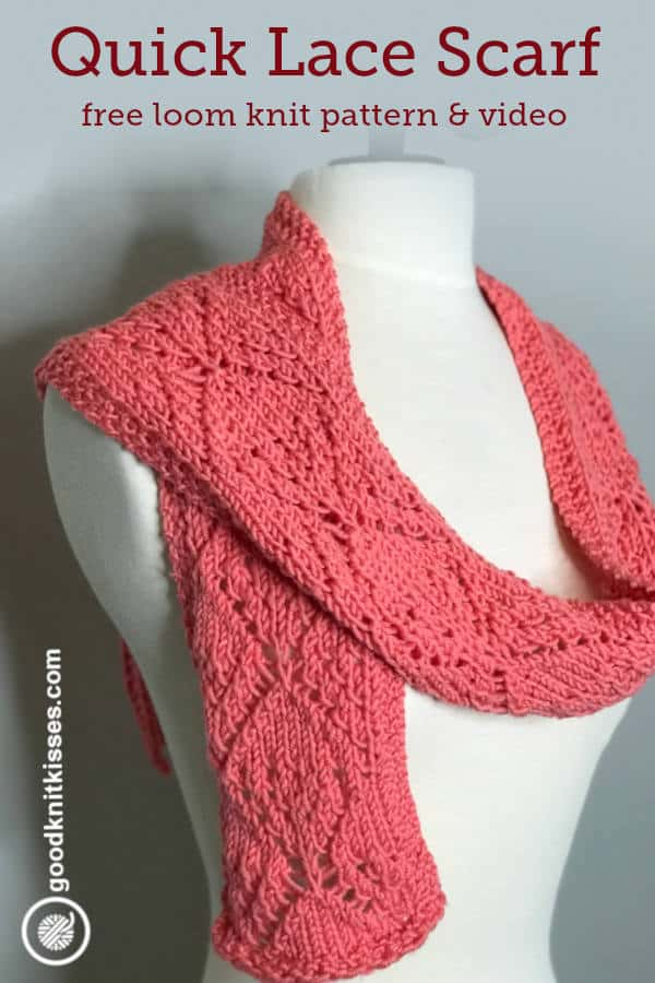 Loom Knit Quick Lace Scarf Goodknit Kisses