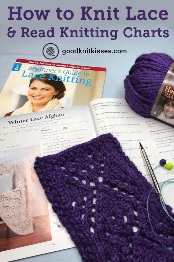 How to Knit Lace & Read Knitting Charts Pin Image