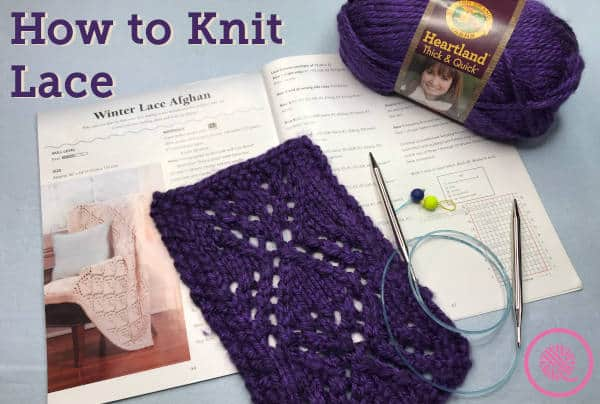 How to Knit Lace | Winter Lace Afghan