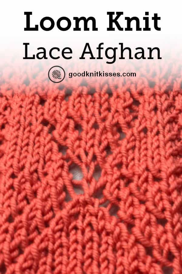 Loom Knit Lace Afghan Pin close up