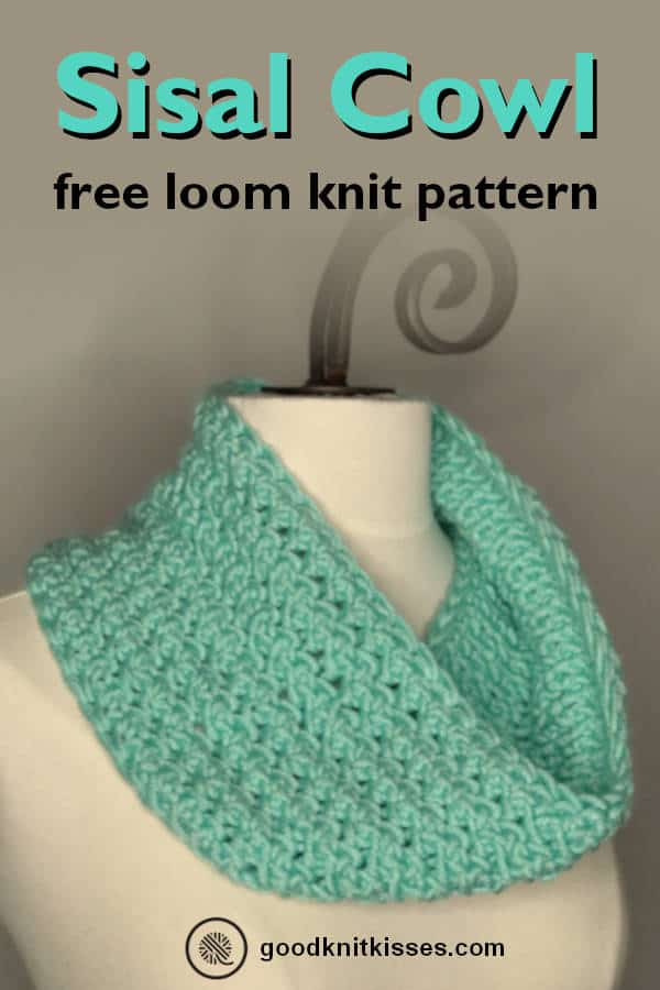 Loom Knit Sisal Cowl finished project PIN image