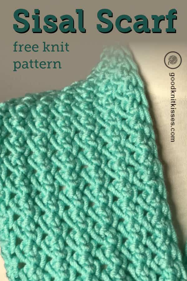 Needle Knit Sisal Scarf pin image