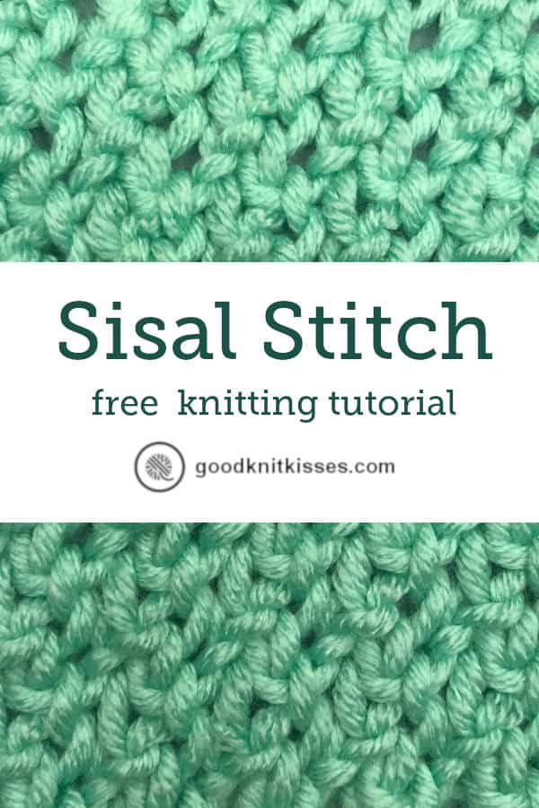 Sisal Stitch tutorial video pin image
