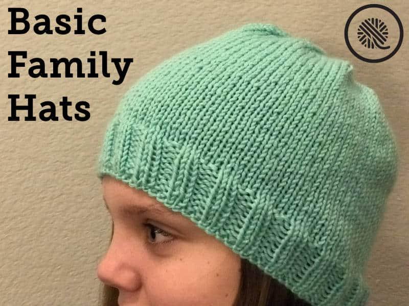 Basic Family Loom Knit Hats