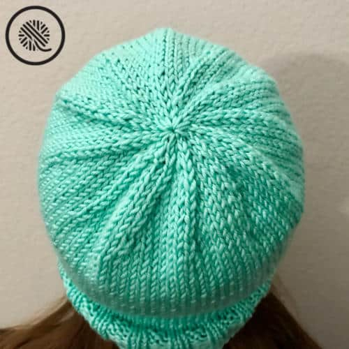 basic family loom knit hats decreased crown