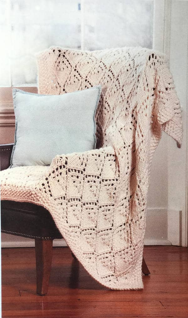 Winter Lace Afghan Beginner's Guide to Lace Knitting book giveaway
