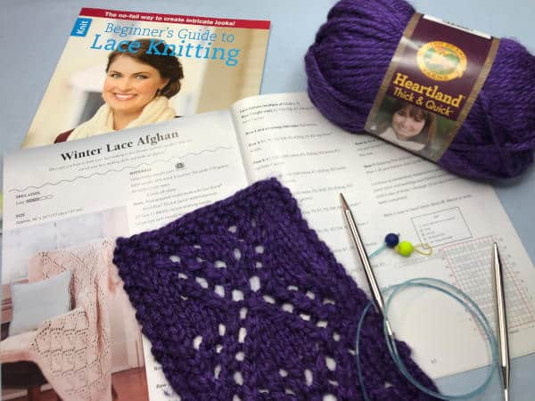 How to Knit Lace from Beginner's Guide to Lace Knitting book giveaway