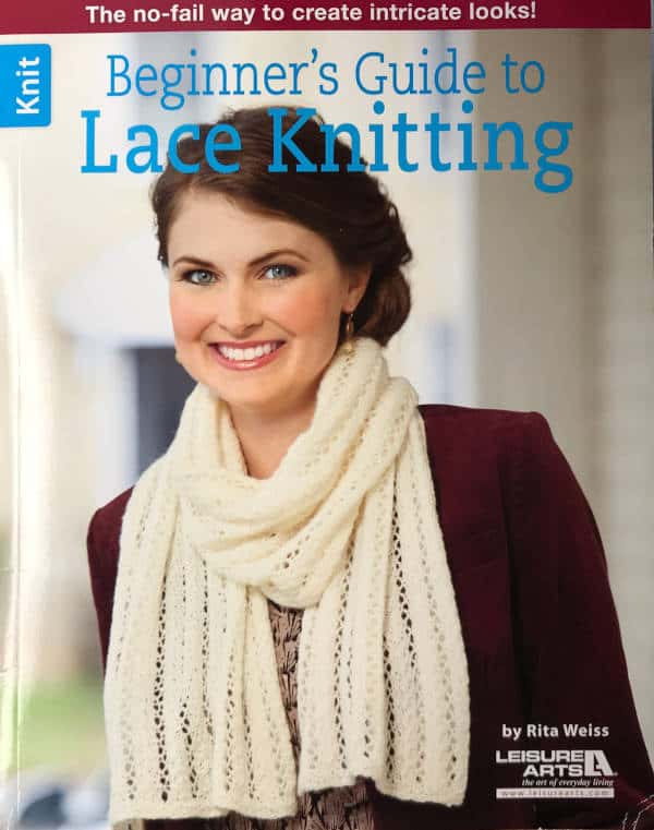 Front Cover Beginner's Guide to Lace Knitting book giveaway