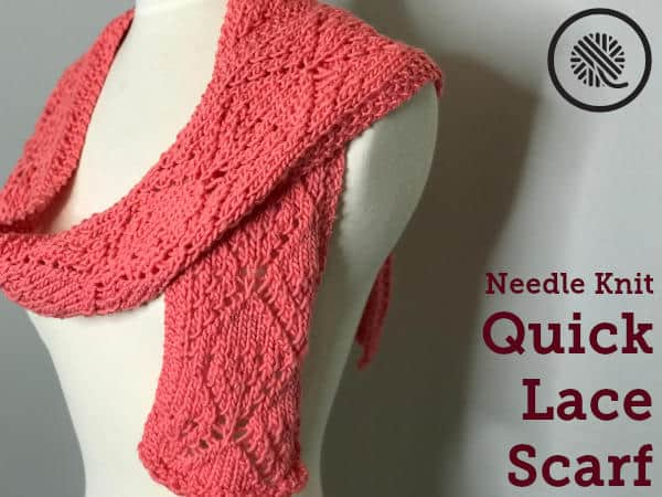 Needle Knit Quick Lace Scarf