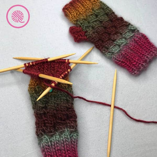 knitting in the round book giveaway fingerless mitts on needles
