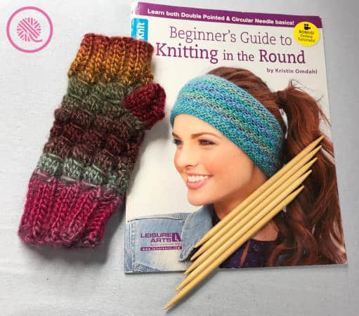 knitting in the round book giveaway fingerless mitts with needles and book
